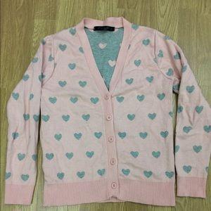 Sweaters - Kawaii Hearts Cardigan